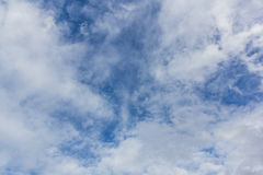 Beauty blue sky background with tiny clouds Royalty Free Stock Image