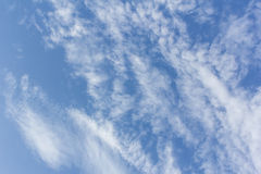 Beauty blue sky background with tiny clouds Royalty Free Stock Images