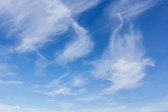 Beauty blue sky background with tiny clouds Royalty Free Stock Photo