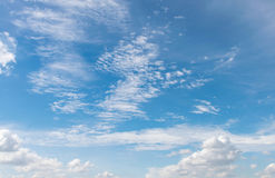 Beauty blue sky with cloud on sunny day Royalty Free Stock Photos