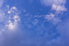 Beauty blue sky with clouds, Texture and background Stock Image