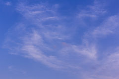 Beauty blue sky with clouds, Texture and background Stock Photo
