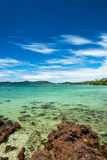 Beauty blue sky with the sea in Thailand Stock Photos