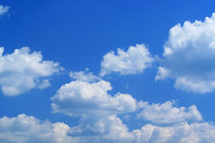 Beauty blue sky and white clouds Royalty Free Stock Image