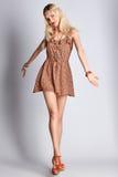 Beauty boho joyful blonde woman, happy smiling, romantic style Royalty Free Stock Photography