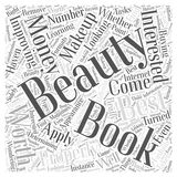 Beauty Books Are They Worth Your Money word cloud concept  background Stock Images