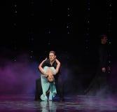 Beauty bosom-Flamingo dance-the Austria's world Dance Stock Image