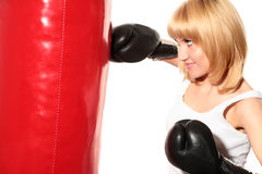 Beauty boxing Royalty Free Stock Photography