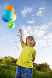 Beauty boy with balloon Royalty Free Stock Photography