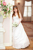 Beauty bride with flowers Royalty Free Stock Image