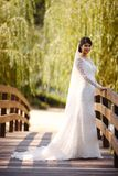 Beauty bride wearing fashion wedding dress with luxury make-up and hairstyle stock photography