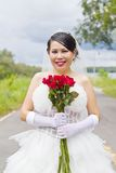 Beauty bride in wedding dress. Stock Photography