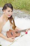 Beauty bride in wedding dress. Royalty Free Stock Photo