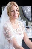Beauty bride in wedding dress Stock Photos