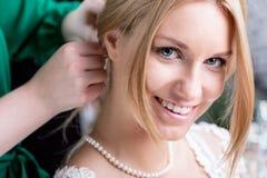 Beauty bride before wedding Stock Image