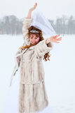 Beauty bride in winter Stock Photos