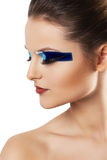 Beauty bright make up. young attractive woman Stock Photos