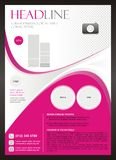 Beauty Brochure and Flyer Template Design Royalty Free Stock Photography