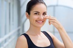 Beauty brunette Stock Photos