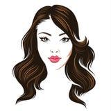 Beauty brunette vector illustration