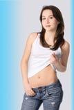 Beauty brunette portrait Stock Image