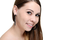 Beauty brunette teen portrait Stock Photography