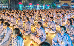 The beauty of the Buddhist holy meditation as planned ceremony Royalty Free Stock Image