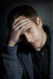 Beauty business portrait of handsome man in studio Stock Images