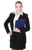 Beauty business woman. Over white background Stock Photos