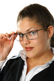 Beauty Business Woman. With glasses Stock Images