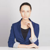 Beauty business woman. Sexy teacher.beautiful girl in suit Stock Images
