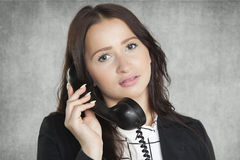 Beauty businesswoman talking on the phone Stock Photography