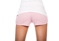 Beauty buttocks in short shorts Stock Images