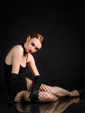 Beauty  cabaret dancer Royalty Free Stock Photography