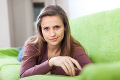 Beauty calm girl in home Stock Photo