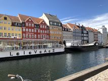 Beauty canal in Copenhagen royalty free stock images