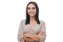 Beauty with candid smile. Stock Photos
