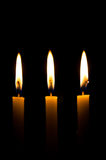 The beauty of candlelight amidst the darkness Royalty Free Stock Image