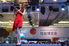 Beauty in Canon Grand Fair 2014 Guangzhou Stock Photos