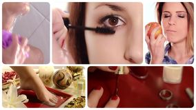 Beauty care composition stock video footage