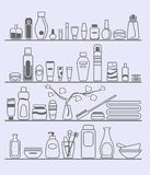 Beauty and care elements. Beauty and body care elements Royalty Free Stock Photos