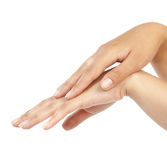 Beauty care hands concept Royalty Free Stock Image