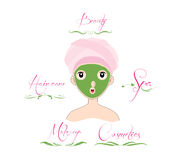Beauty and Care logo template set vector illustration
