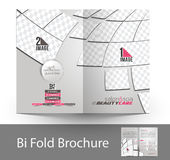 Beauty Care & Salon Bi-fold Brochure Royalty Free Stock Photos