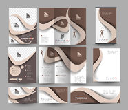 Beauty Care & Salon Business Stationery Royalty Free Stock Photos