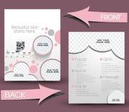 Beauty Care & Salon Flyer Stock Image