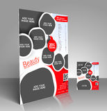 Beauty Care & Salon Flyer Stock Image