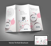 Beauty Care & Salon Tri-Fold Brochure Royalty Free Stock Photography