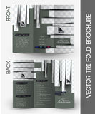 Beauty Care & Salon Tri-Fold Brochure Stock Images
