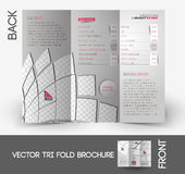 Beauty Care & Salon Tri-Fold Brochure Royalty Free Stock Images